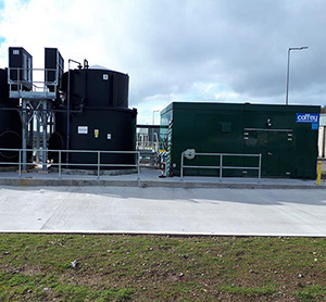 Ferric Chloride Bulk Storage tanks - 2 no. bulk chemical storage tanks of  25 m3 capacity providing total storage volume of 50m3 - equivalent to 15 days storage.